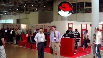 Red Hat Stand auf dem Linuxtag 2005