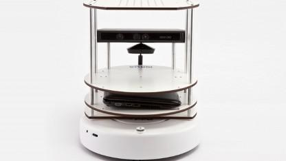 Der Turtlebot samt Laptop und Kinect