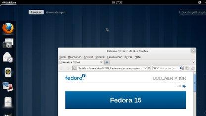 Fedora 15 mit der Gnome3 als Oberfläche