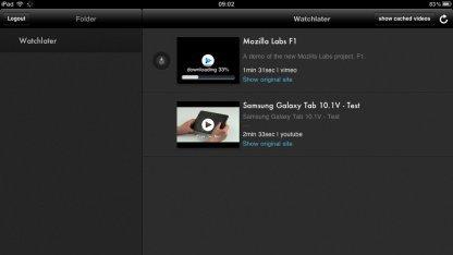 Watchlater: Eine Art Instapaper für Videos