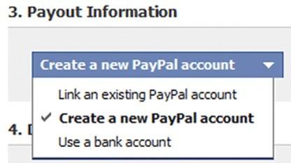 Neue Auszahlungsoption für Facebook-Gutschriften