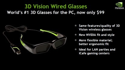 Brille für 3D-Vision jetzt mit Kabel
