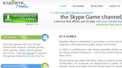 Ausschnitt der Easybits-Media-Homepage