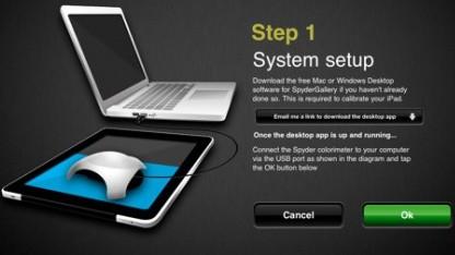 Farbkalibrierung für das iPad