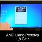 AMDs Llano-Prototyp auf der Cebit 2011
