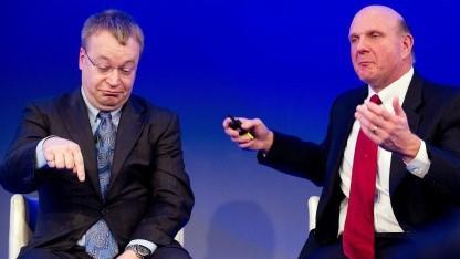Nokia-Chef Steven Elop und Microsoft Steve Ballmer