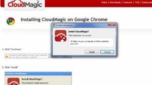 Cloudmagic-Installation unter Chrome