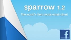 Sparrow 1.2: E-Mail-Client mit Facebook-Anbindung