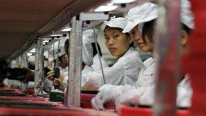 Foxconn-Arbeiterinnen in Longhua im Jahr 2010