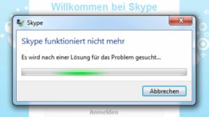 Skypeabsturz und Serverprobleme