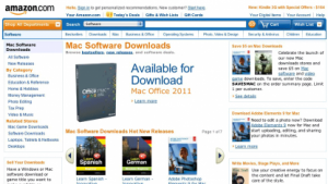 Amazon.com bietet nun auch Mac-Software-Downloads