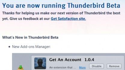 Thunderbird hat einen neuen Addon-Manager