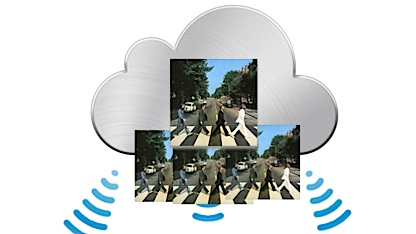 Mit dem iCloud-Dienst können Daten zwischen Apple-Geräten synchronisiert werden.