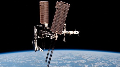 Einfach großartig: Nespolis Foto von Spaceshuttle und ISS