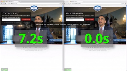 Instant Pages zeigt gefundene Seite sofort nach dem Klick.