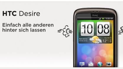 Nun lässt HTC die Desire-Besitzer hinter sich.