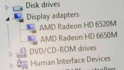 Die zwei GPUs laut Gerätemanager