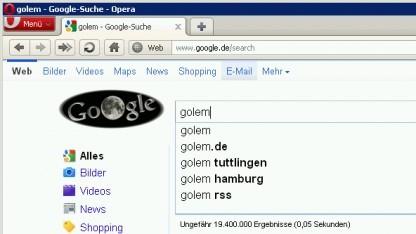 Google Instant in Opera