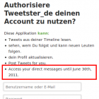 Direktnachrichten: Sicherheitslücke bei Twitter-API