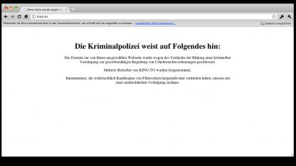 Fehlendes Impressum: Sachsens Innenministerium wegen Kino.to abgemahnt