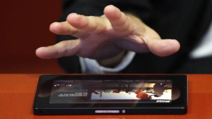 Jim Balsillie mit dem Blackberry Playbook