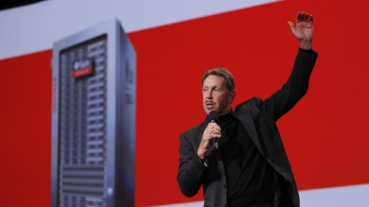 Oracle-Chef Larry Ellison auf der Oracle Open World in San Francisco im September 2010