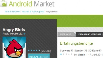 Angry-Birds-Update verärgert Android-Nutzer