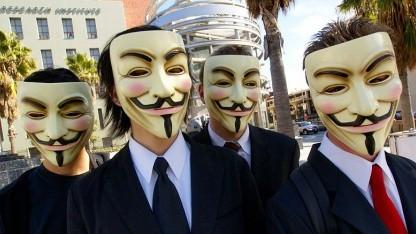 Maskierte Anonymous-Aktivisten