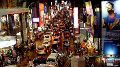 Straße in Bangalore: Polizei stoppt Googles Fotofahrzeuge