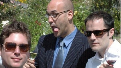 Biz Stone (l.), Jason Goldman und Ev Williams (r.)