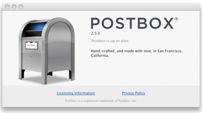 Postbox ist in der Version 2.5 erschienen