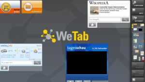 Die Benutzeroberfläche des WetabOS