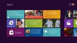 Startbildschirm von Windows 8