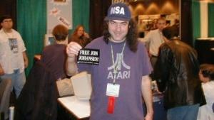 Eric Corley auf der Linuxworld 2000 in New York City