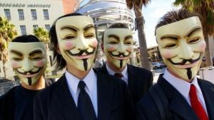 Maskierte Anonymous-Mitglieder
