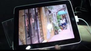 Modifiziertes iPad 1 mit 3D-Display
