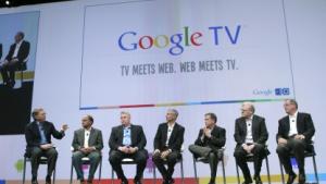 Der damalige Google-Chef Eric Schmidt stellte im Mai 2010 Google-TV-Partner vor.