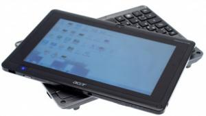 Acers Iconia Tab W500 mit dem Tastaturdock