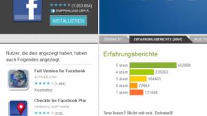 Android-Nutzer strafen Facebook-Anwendung ab