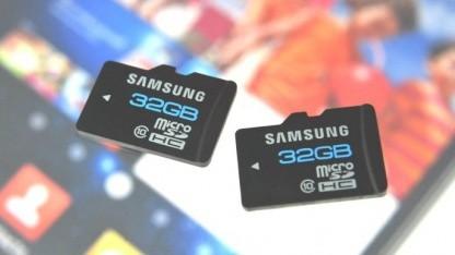 Samsung microSDHC mit 32 GByte Speicherkapazität
