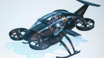 Fliegen und fahren: Konzeptzeichnung des Flugautos