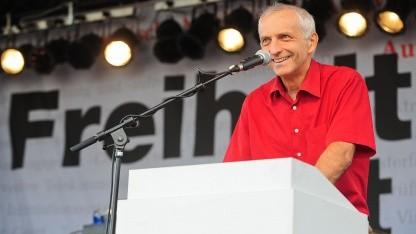 Thilo Weichert im Jahr 2009 auf einer Demonstration