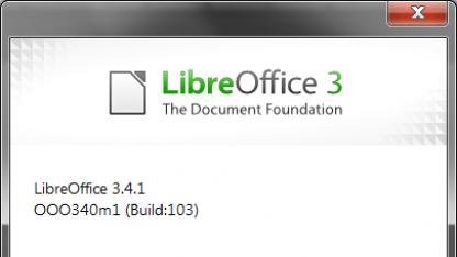 Libreoffice 3.4.1 ist fertig