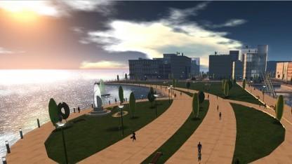 Szene aus einem Massive Multiplayer Virtual Environment