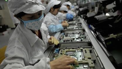 Chinesische Foxconn-Beschäftigte im Mai 2010 in Shenzhen