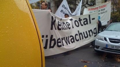 Demonstration in Wiesbaden am 9. November 2008