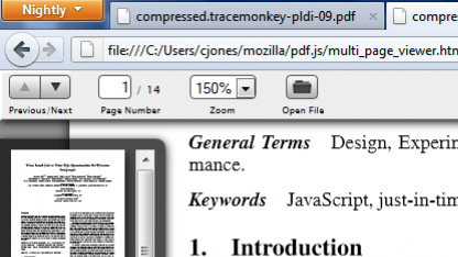 pdf.js 0.2 mit Vorschauleiste