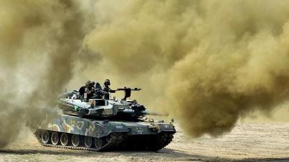 Südkorea bei Truppenübungen im Grenzgebiet zu Nordkorea