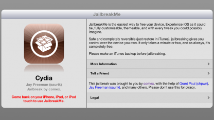 Jailbreakme.com knackt das iPad 2