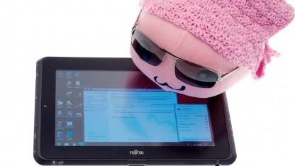 Fujitsus Tablet-PC hat ein besonders helles Display.